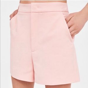 H&M blush pink shorts high waisted
